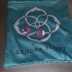 Kendra Scott Morgan Studs. Lilac.